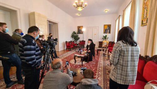 Mitropolitul Andrei s-a întâlnit cu presa clujeană și a prezentat mesajul pastoralei la Sărbătoarea Învierii Domnului 2021