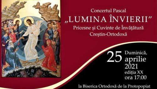 """""""Lumina Învierii"""" – pricesne și cuvinte de învățătură, duminică, la Bistrița"""