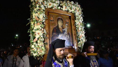 Prohodul Maicii Domului, cântat la Mănăstirea Nicula de zeci de mii de pelerini