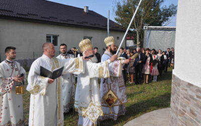 Târnosirea bisericii din Parohia Romita, județul Sălaj