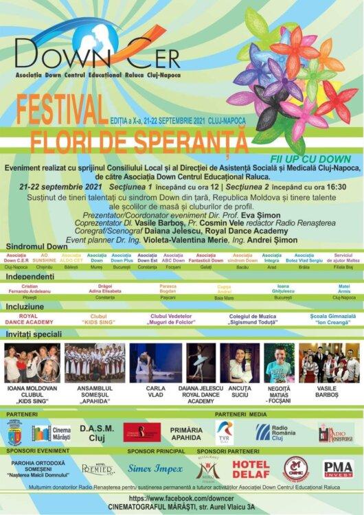 """Episcopul Benedict Bistrițeanul a binecuvântat festivalul """"Flori de Speranță"""" al tinerilor cu Sindrom Down"""