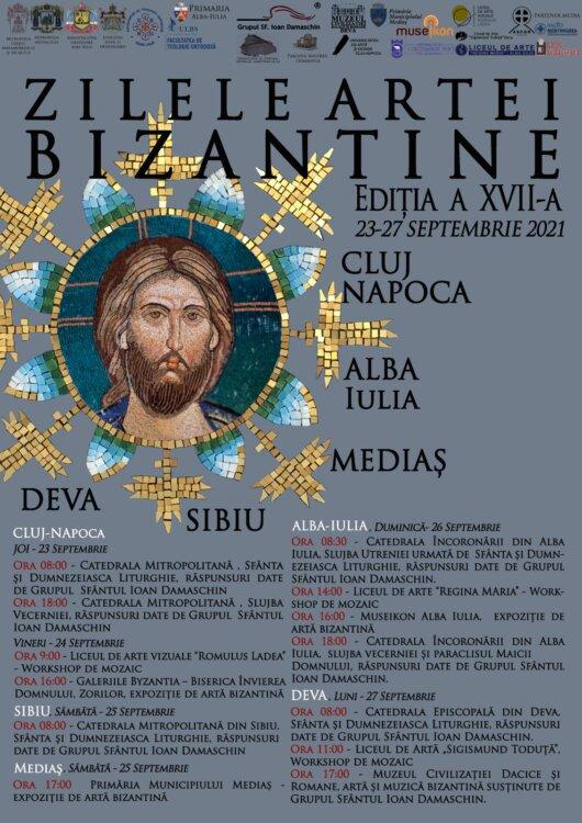 """""""Zilele artei bizantine"""" - programul manifestărilor"""